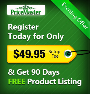 Price Master Merchant, free registration and listing for 90 days